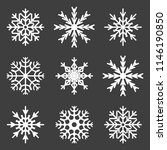 set of snowflake icons. vector... | Shutterstock .eps vector #1146190850