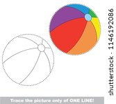 drawing worksheet for preschool ... | Shutterstock .eps vector #1146192086