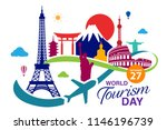 world tourism day logo template ... | Shutterstock .eps vector #1146196739