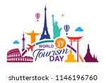 world tourism day logo template ... | Shutterstock .eps vector #1146196760