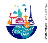 world tourism day logo template ... | Shutterstock .eps vector #1146196763