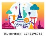world tourism day logo template ... | Shutterstock .eps vector #1146196766