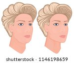 vector illustration. a female... | Shutterstock .eps vector #1146198659
