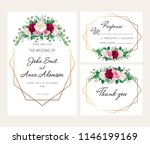 modern geometric wedding... | Shutterstock .eps vector #1146199169