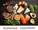 keto diet food ingredients | Shutterstock . vector #1146199409