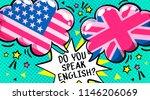 concept of studing english. do... | Shutterstock .eps vector #1146206069