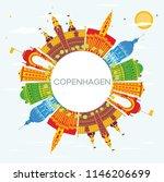 copenhagen denmark city skyline ... | Shutterstock .eps vector #1146206699