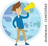 people marketing internet... | Shutterstock .eps vector #1146210563