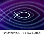 jesus fish sign or ichtis in... | Shutterstock . vector #1146216866