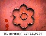 wrought iron gates  ornamental... | Shutterstock . vector #1146219179