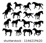 a set of horse animal detailed... | Shutterstock .eps vector #1146219620