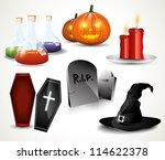 halloween glossy icons