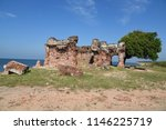"""Small photo of Ruins of the """"Pearl Fishery Bungalow"""".Sri Lanka"""