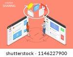 flat isometric concept of... | Shutterstock . vector #1146227900
