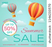 sale banner design template.... | Shutterstock .eps vector #1146233570