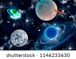 planets with stars and clouds...   Shutterstock . vector #1146233630