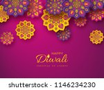 diwali festival holiday design... | Shutterstock .eps vector #1146234230