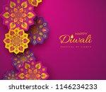 diwali festival holiday design... | Shutterstock .eps vector #1146234233