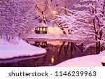 winter snow park river... | Shutterstock . vector #1146239963