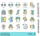 e commerce vector icons. b2b ... | Shutterstock .eps vector #1146240770