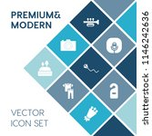 modern  simple vector icon set... | Shutterstock .eps vector #1146242636