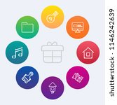 modern  simple vector icon set... | Shutterstock .eps vector #1146242639