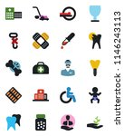 color and black flat icon set   ... | Shutterstock .eps vector #1146243113