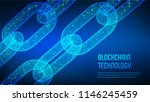 block chain. crypto currency.... | Shutterstock .eps vector #1146245459
