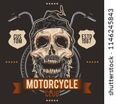the skull biker on the... | Shutterstock .eps vector #1146245843