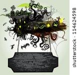 halloween vector banner | Shutterstock .eps vector #114624598