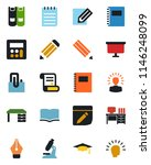 color and black flat icon set   ... | Shutterstock .eps vector #1146248099