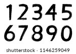 set of grunge numbers.vector... | Shutterstock .eps vector #1146259049