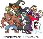 halloween monsters. cartoon... | Shutterstock .eps vector #114626026