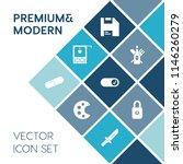 modern  simple vector icon set... | Shutterstock .eps vector #1146260279