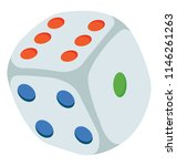 a cube with numbers written on... | Shutterstock .eps vector #1146261263