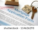 approved mortgage loan... | Shutterstock . vector #114626293