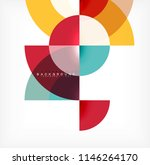 minimal circle abstract... | Shutterstock .eps vector #1146264170