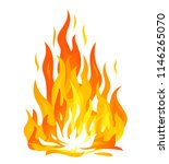 bonfire flame isolated... | Shutterstock .eps vector #1146265070