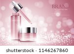 cosmetic product poster  bottle ... | Shutterstock .eps vector #1146267860