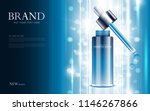 cosmetic product poster  bottle ... | Shutterstock .eps vector #1146267866