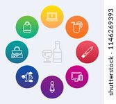 modern  simple vector icon set... | Shutterstock .eps vector #1146269393