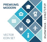 modern  simple vector icon set... | Shutterstock .eps vector #1146271919