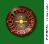 roulette on a green background. ... | Shutterstock .eps vector #1146272660