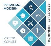 modern  simple vector icon set... | Shutterstock .eps vector #1146272813