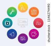 modern  simple vector icon set... | Shutterstock .eps vector #1146274490