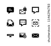 chat icon set with email ... | Shutterstock .eps vector #1146296783