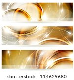 abstract golden banners set | Shutterstock .eps vector #114629680
