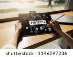 fintech   digital financial... | Shutterstock . vector #1146297236