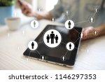 human resource management  hr ... | Shutterstock . vector #1146297353