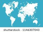 color world map vector | Shutterstock .eps vector #1146307043